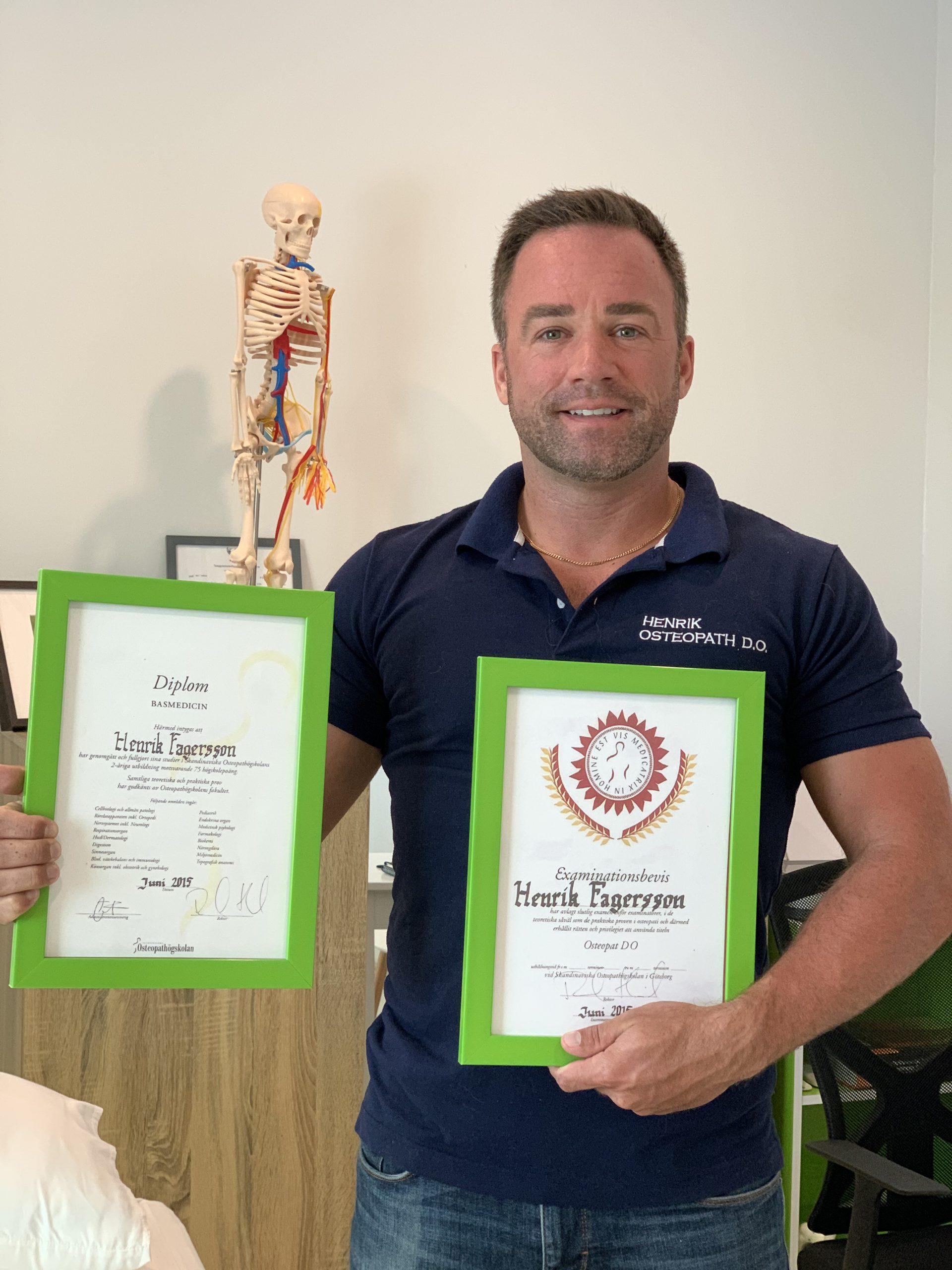 Osteopath D.O Certificate